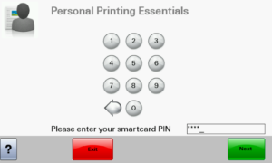 Lexmark-PIN-code-secure-print