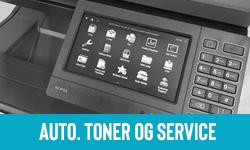 overvaking med automatisk toner bestilling og servicemeldinger